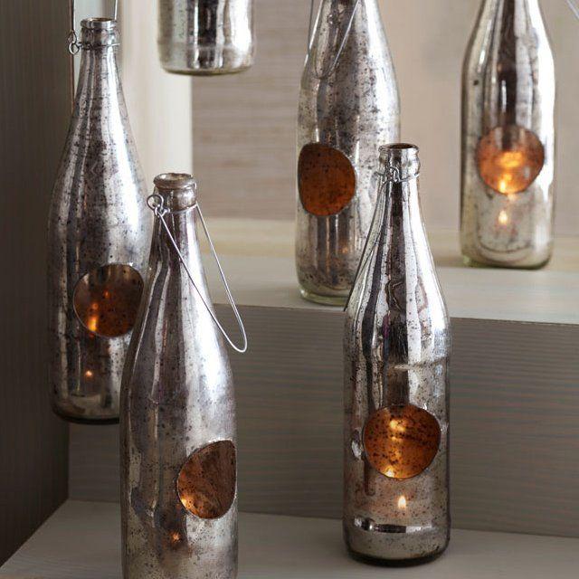 Upcycled Bottle Lanterns