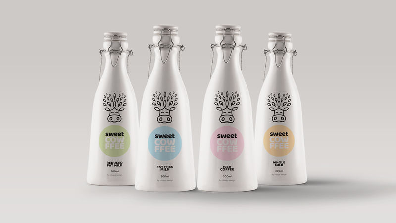 Reusable Bottle Milk Branding