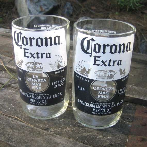 Upcycled Bottle Glasses