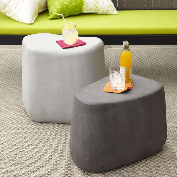 Boulder-Shaped Patio Tables