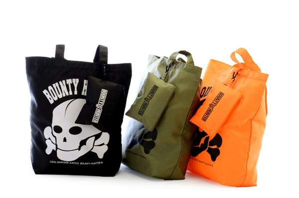 Bounty Hunter Nylon Skull Tote Bags
