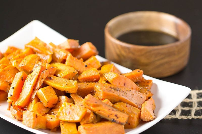 Boozy Squash Bites : Bourbon Sweet Potatoes