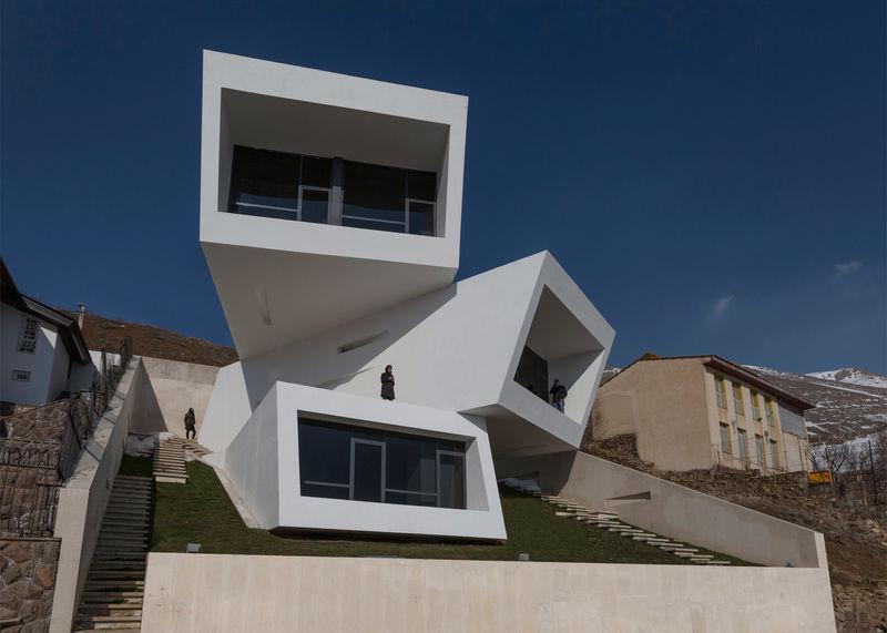 Eccentric Box Houses