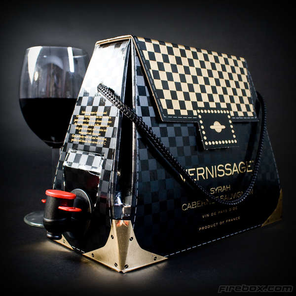 Stylish Portable Wine Handbags