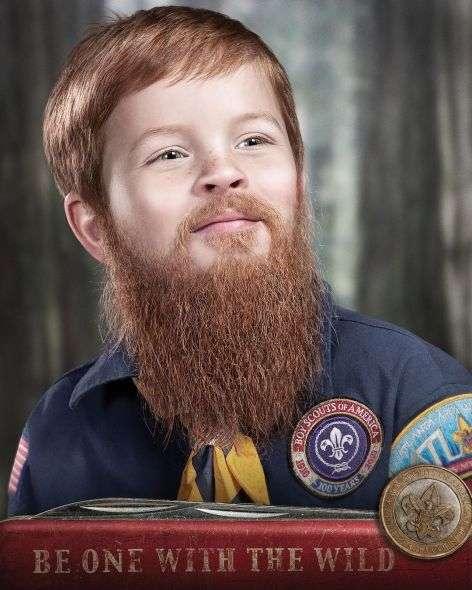 Child Beard Campaigns : Boy Scouts Ads