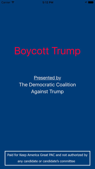 Presidential Boycott Apps