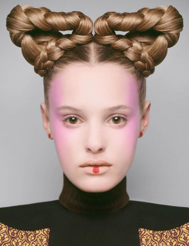 futuristic hair editorials braided hairstyle