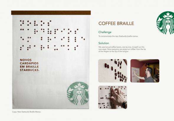 Coffee Bean Braille Menus