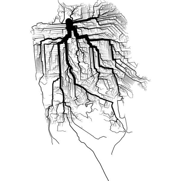 Artery-Like Cyclist Maps