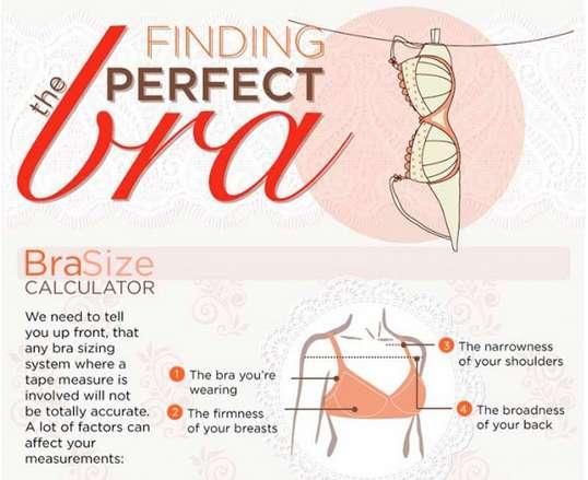 Proper Bra-Sizing Infographics