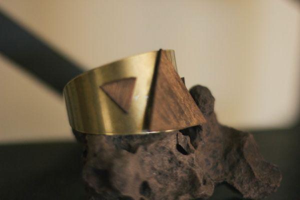 Geometric Brass Bangles