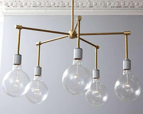 diy industrial illuminators brass chandelier