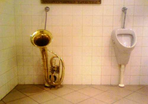 Brass Musical Urinals