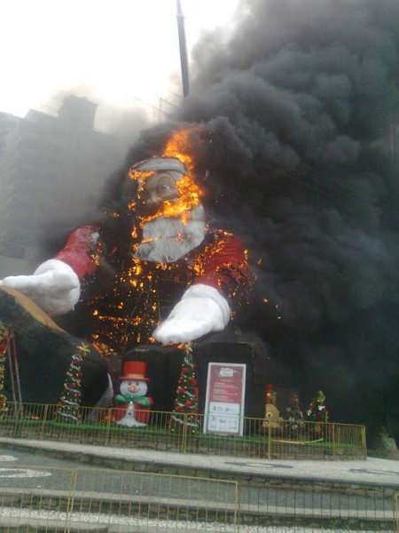 Public Santa Burnings