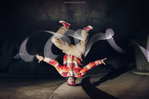 Light-Painting Breakdance Photography