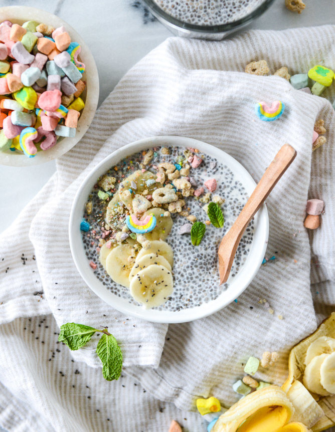 Superfood Marshmallow Cereal Puddings