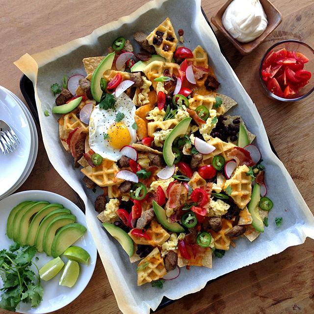 Breakfast Waffle Nachos