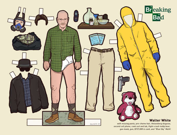 breaking bad paper dolls