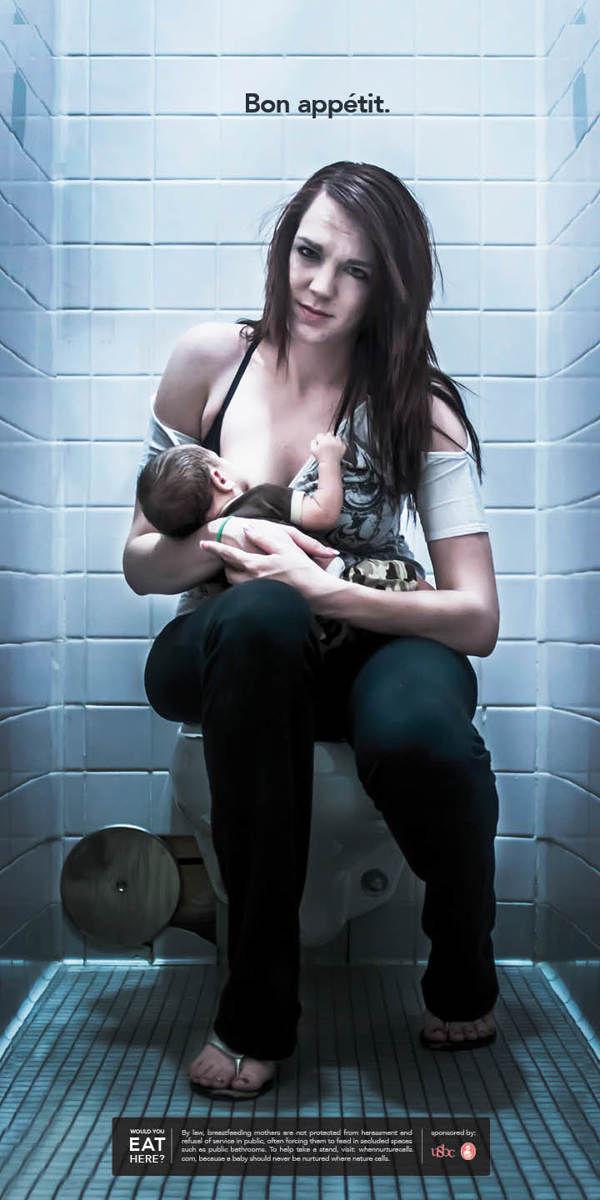 Bathroom Breastfeeding Ads
