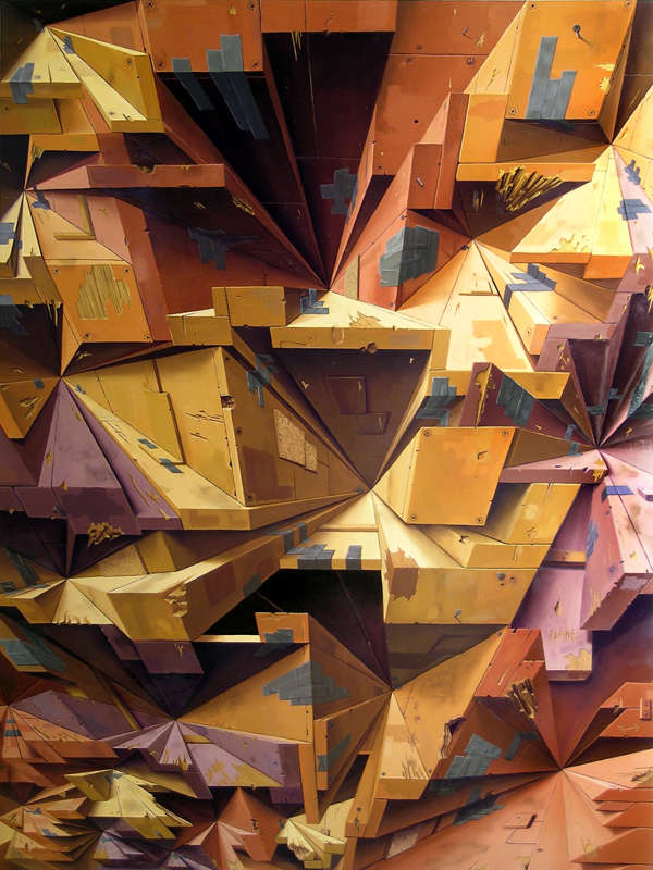 Deceptively Dimensional Paintings