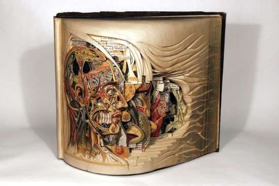 Brian Dettmer Book Sculptures
