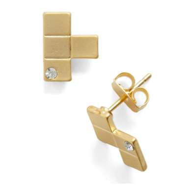 Gold Tetris Jewelry