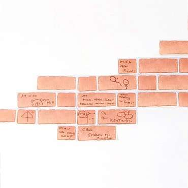 brick sticky notes