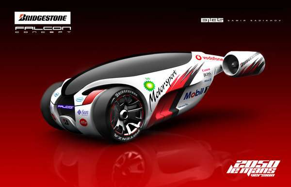 Hybrid Jet Vehicles Bridgestone Falcon Concept Car