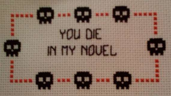 Confrontational Cross Stitching