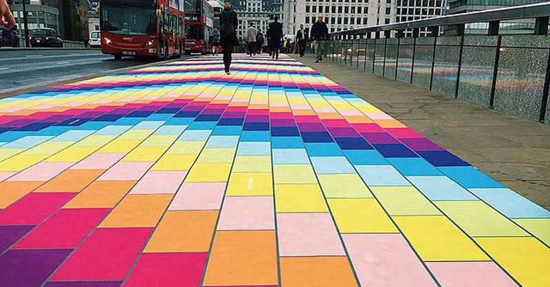 Uplifting Rainbow Walkways
