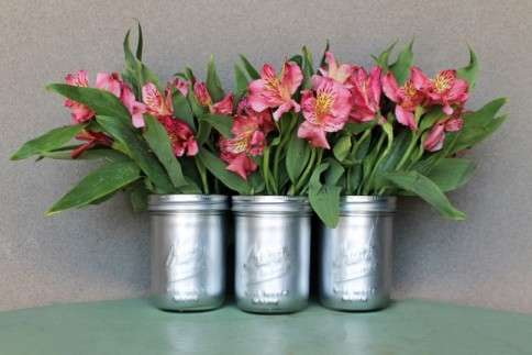 Mason Jar Flower Containers