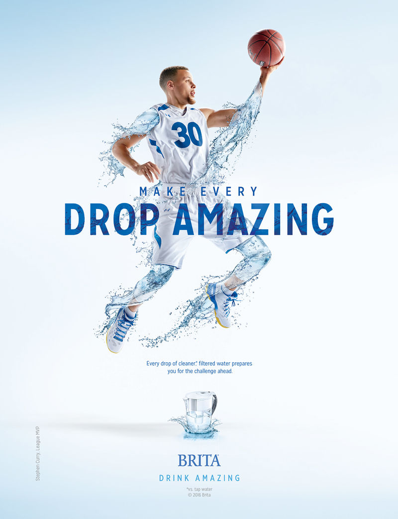 Basketball-Inspired Water Ads