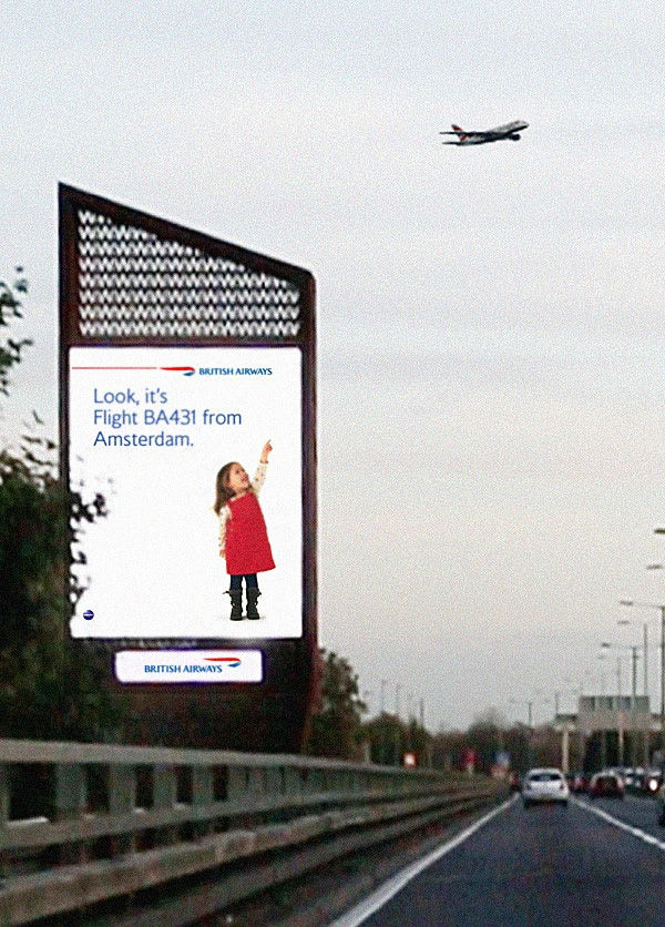 Airplane Interactive Billboards