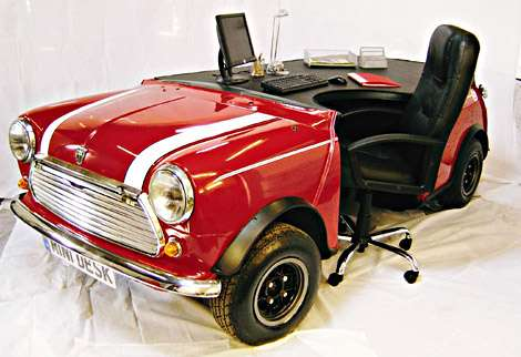 British Mini into Mini Desk