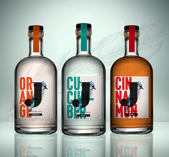 Bird-Branded Botanical Vodka
