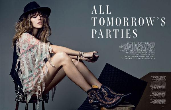 Layered Fringe Fashion Editorials