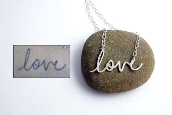 Custom Handwriting Necklaces
