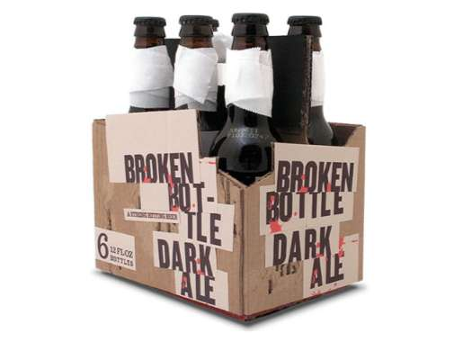 Broken Bottle Beer Packaging