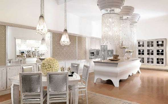 Ultra extravagant kitchens brummel papillon kitchen for Extravagant kitchen designs