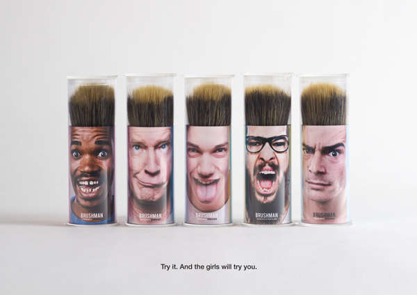 Personified Shaving Brush Packaging