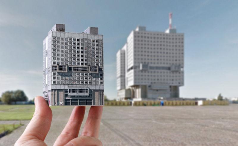 Origami Eastern Bloc Buildings
