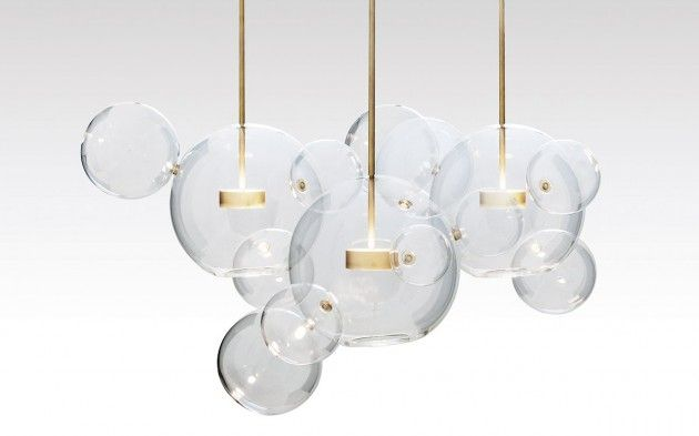 Suspended bubble lamps bubble lamp for Suspension luminaire 3 lampes