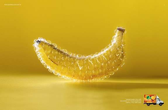 Bubble-Wrapped Fruit Ads