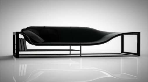 Sleek shelved seating bucefalo sofa for Sleek sofas small spaces