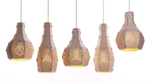 Perforated Plywood Lighting