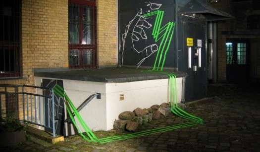 Taped Street Art