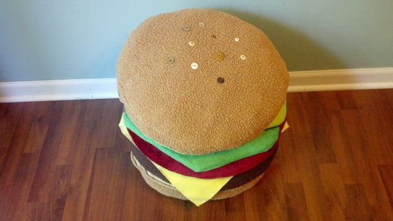 Burger-Shaped Pillows