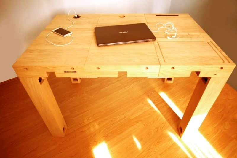 Modular Wooden Tech Desks