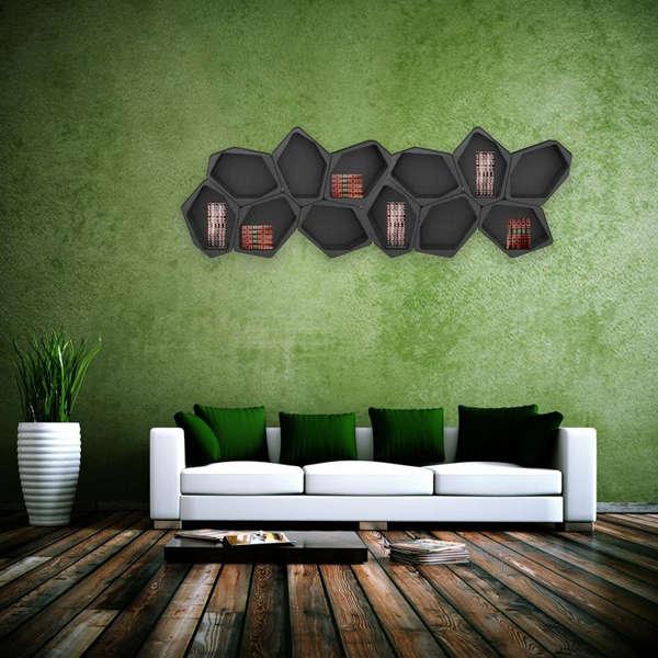 Modular Honeycomb-Like Shelving