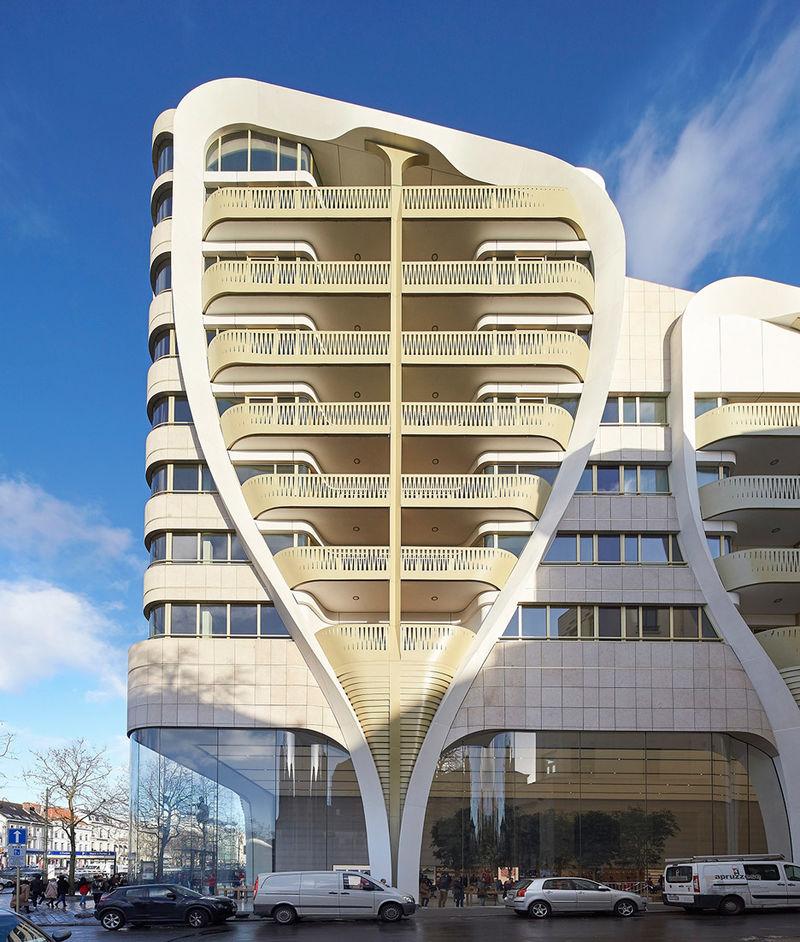 Gilded Building Balconies